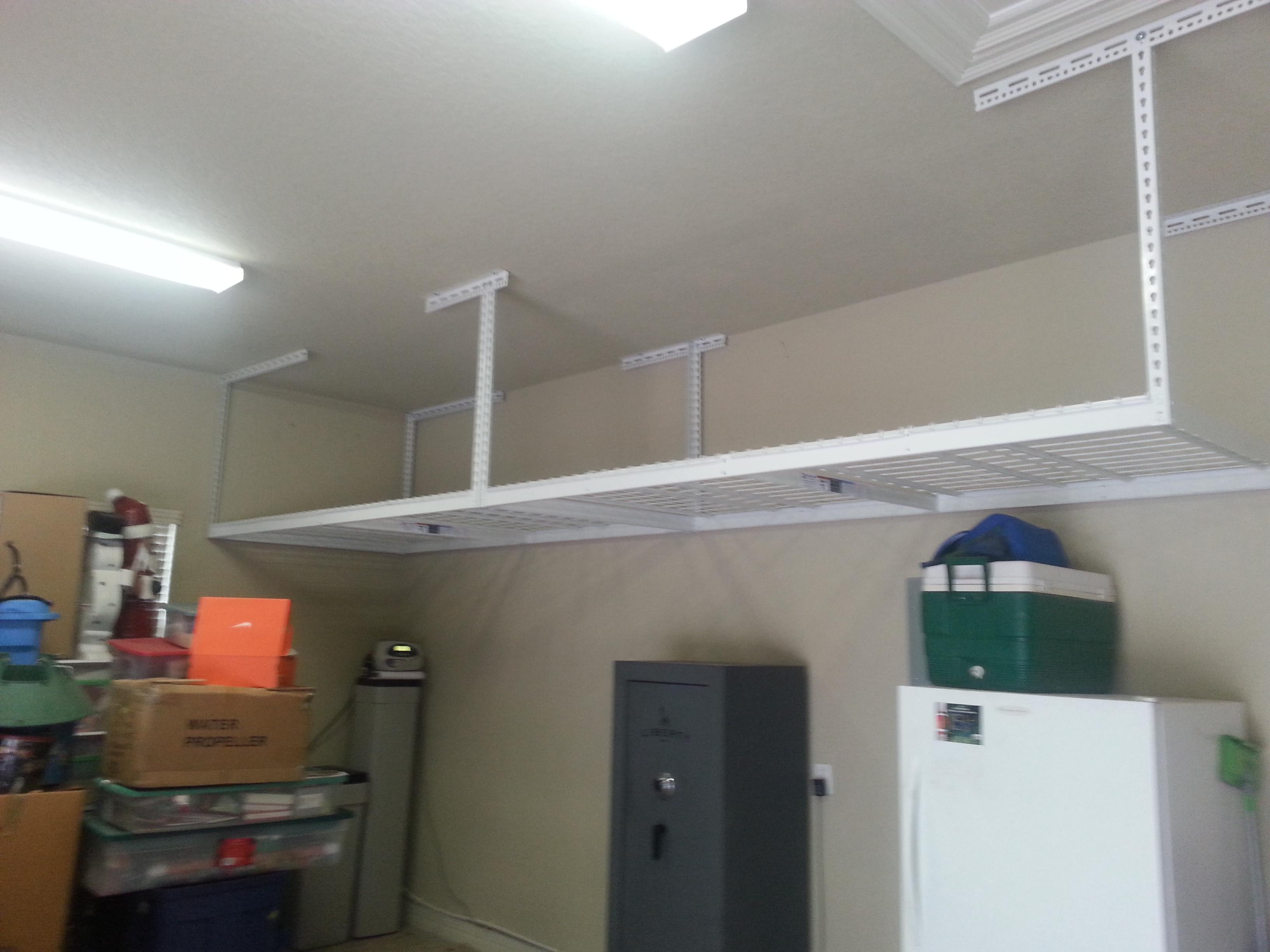 Saferacks Overhead Garage Storage Combo Kit Two 4 Ft X 8